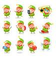 elf collection of activities vector image vector image