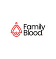 family blood drop donate donation parent child vector image vector image