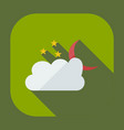 flat modern design with shadow icons cloud moon vector image vector image