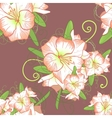 Floral seamless background with white amaryllis vector image