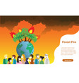 forest fire wildfire burning planet vector image