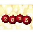 Glass Christmas Balls 2015 vector image vector image