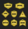 golden like retro shapes and vintage badges set vector image vector image