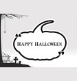 halloween greeting in black pumpkin textbox quote vector image