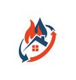 home restoration logo design a property vector image vector image