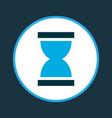 hourglass icon colored symbol premium quality vector image