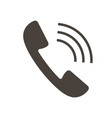 icon callers handset vector image