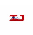iJ company logo vector image vector image