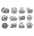 indian native americans icons wild west culture vector image vector image
