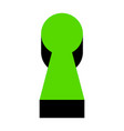 keyhole sign green 3d icon vector image vector image