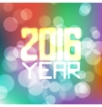 label for the new 2016 blurred color vector image vector image