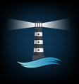 Logo old lighthouse image vector image vector image