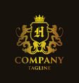 luxury letter h logo vector image