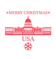 Merry Christmas United States of America vector image vector image