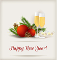 new year champagne vector image vector image