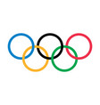 olympic rings olympic games logo editorial vector image vector image