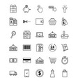online shopping icons set vector image vector image