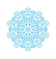 ornate snowflake vector image vector image
