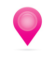 pink map pointer icon marker GPS location flag vector image vector image
