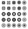Pixelated snowflakes Christmas icons vector image vector image