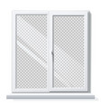 realistic pvc window white blank mockup vector image vector image