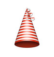 red party hat vector image vector image