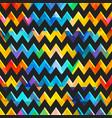 retro colored zigzag seamless texture vector image vector image