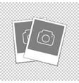 retro photo frame blank snapshot vector image vector image