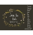rustic wreath save date invitation card vector image