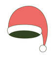 santa claus christmas cap on color section vector image vector image