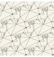 Seamless deer line pattern tile background vector image