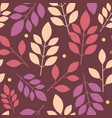 seamless floral chaotic pattern of multicolored vector image vector image