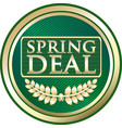 spring deal icon vector image vector image