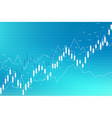 stock market and exchange business candle stick vector image