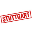 Stuttgart red square grunge stamp on white vector image vector image