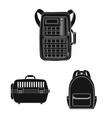 suitcase and baggage icon vector image