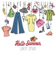 summer fashionwoman colorful vacation wear vector image vector image