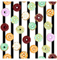 sweet donuts vector image vector image