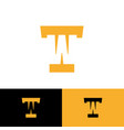 t and w letter logo monogram hidden initi vector image vector image