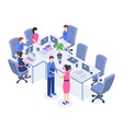 teamwork color isometric vector image vector image