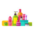 tubes and lotions poster set vector image vector image