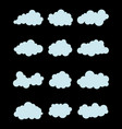 various blue clouds vector image vector image