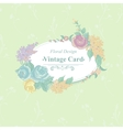 Vintage Greeting Card with Wildflowers vector image