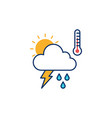 weather icon line outline monoline vector image