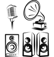 with a set of music equipment vector image