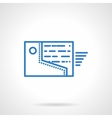 Sending files flat blue line icon vector image