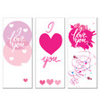 a set of postcards with the inscription i love you vector image vector image