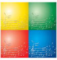 abstract backgrounds with light color music notes vector image vector image