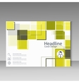 Abstract brochure template design with squares vector image