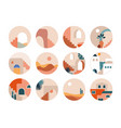 abstract fresh and trendy design set modern vector image vector image